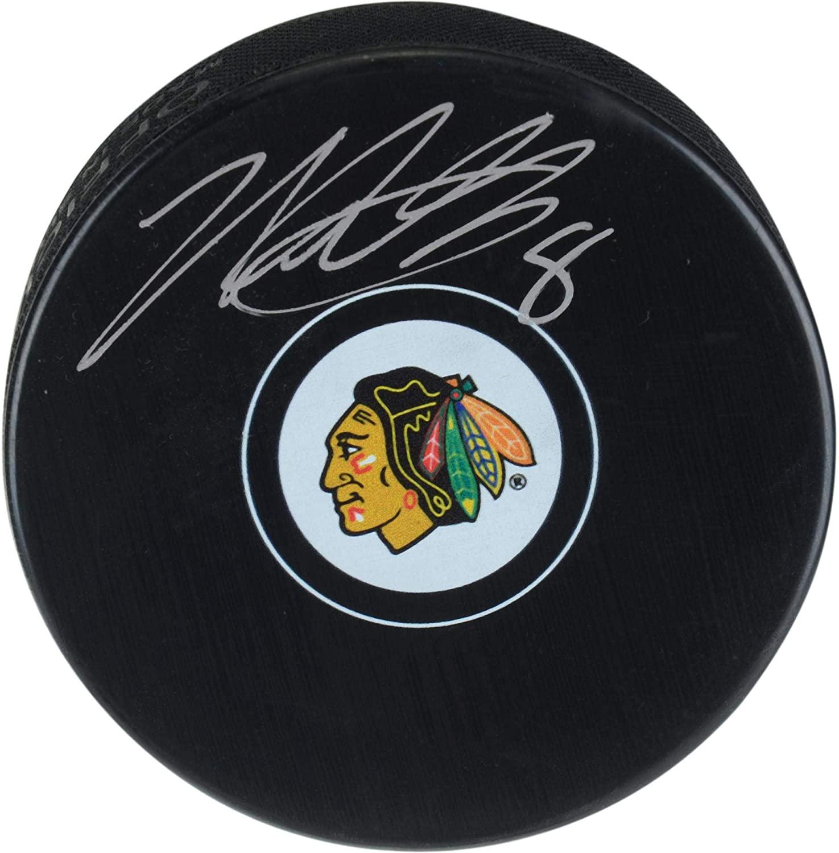 Nick Schmaltz Chicago Blackhawks Autographed Hockey Puck - Fanatics Authentic Certified - Autographed NHL Pucks