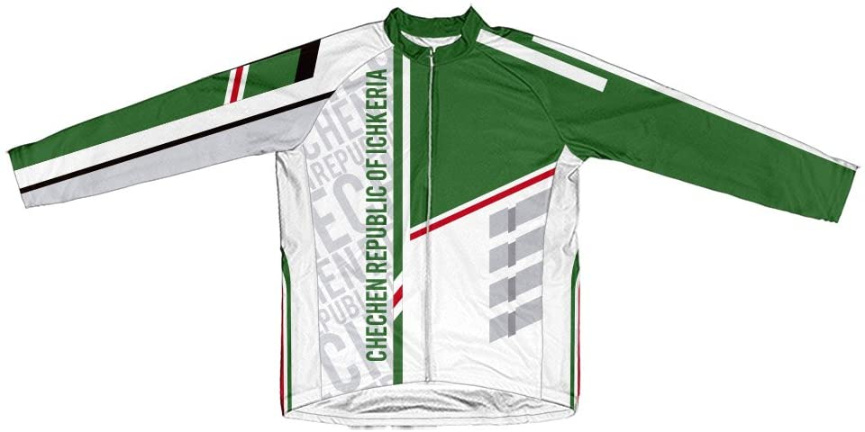 ScudoPro Chechen Republic of Ichkeria Long Sleeve Cycling Jersey for Men