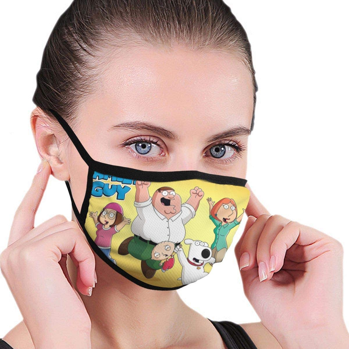 Qwtykeertyi Family Guy Unisex Washable and Reusable Cotton Warm Face Protection for Outdoor 6.8inch x 4.7inch
