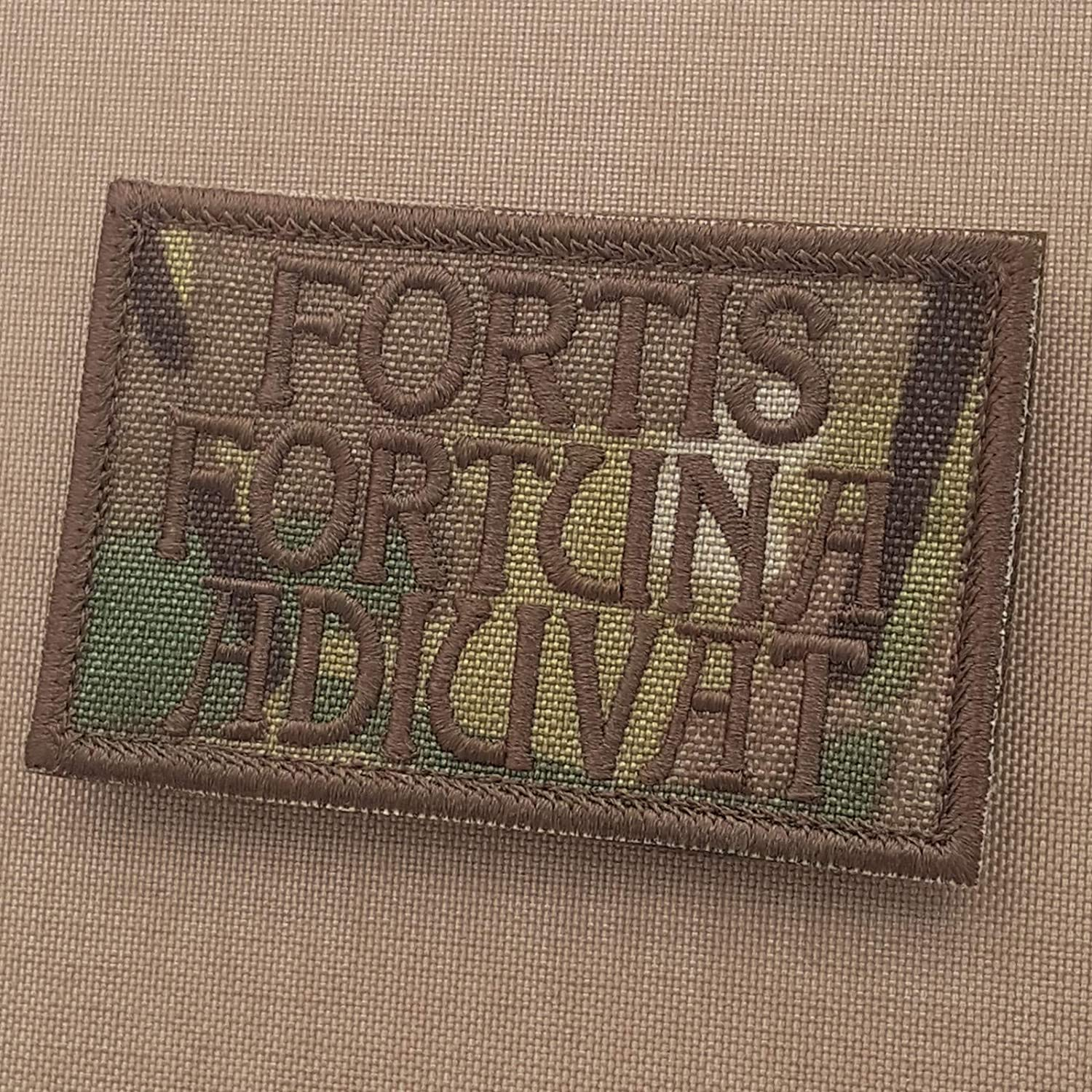 LEGEEON Multicam Fortis Fortuna Adiuvat 2x3.25 OCP John Wick Morale Tactical Military Touch Fastener Patch