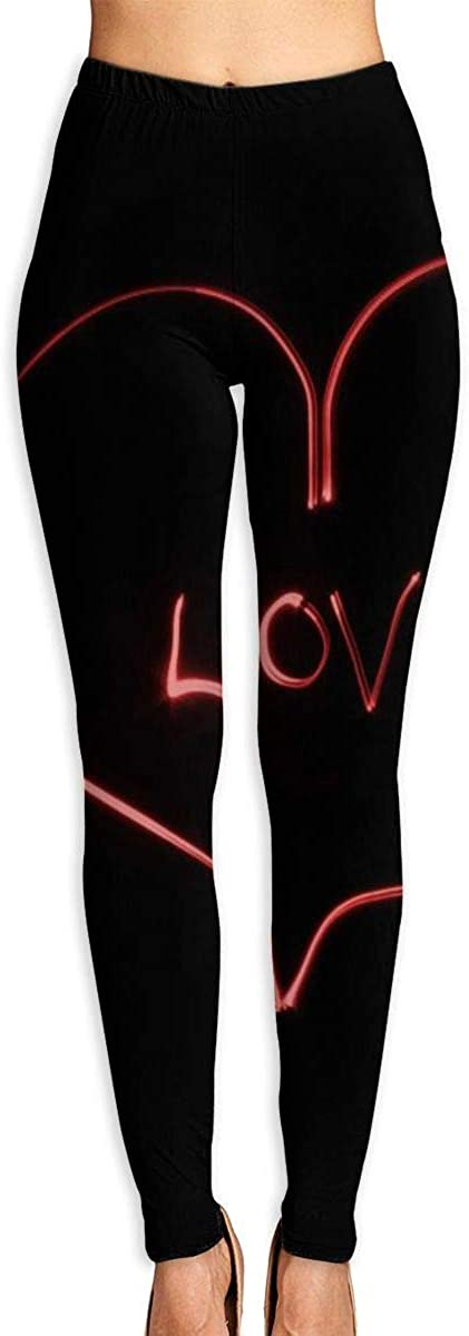 Womens Yoga Pants Leggings Love Light Running Workout Capris Long Trousers Dance Gym