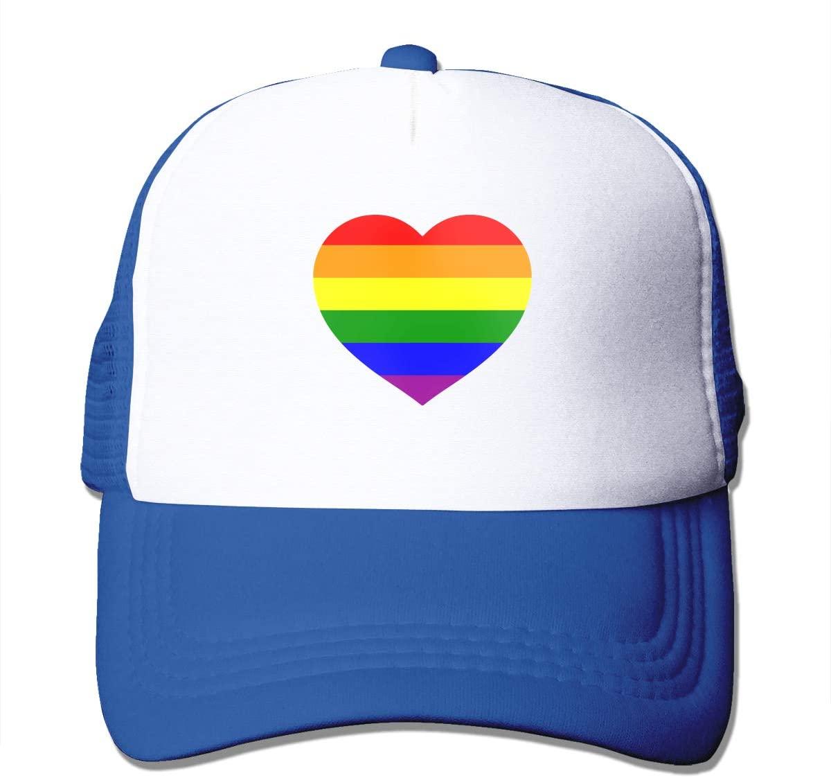 Adult Trucker Hat LGBT Gay Pride Flag Custom Mesh Caps