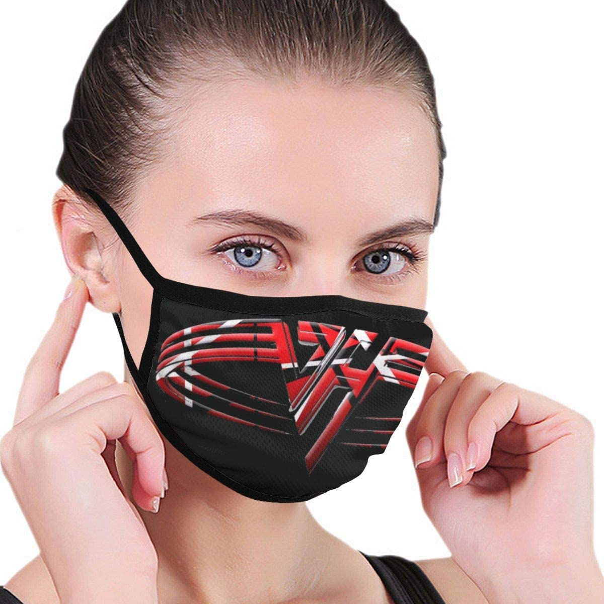 Zhengyu Van Halen Band Face Mouth Protect Comfy Breathable Safety Air Fog Outdoor Fashion Half Face Face Protections - for Man and Woman