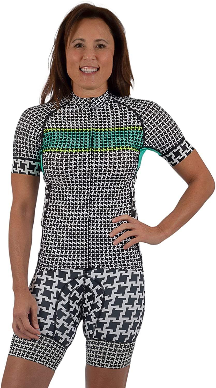 SHEBEEST Women's Divine Short Sleeve Biking/Cycling Jersey