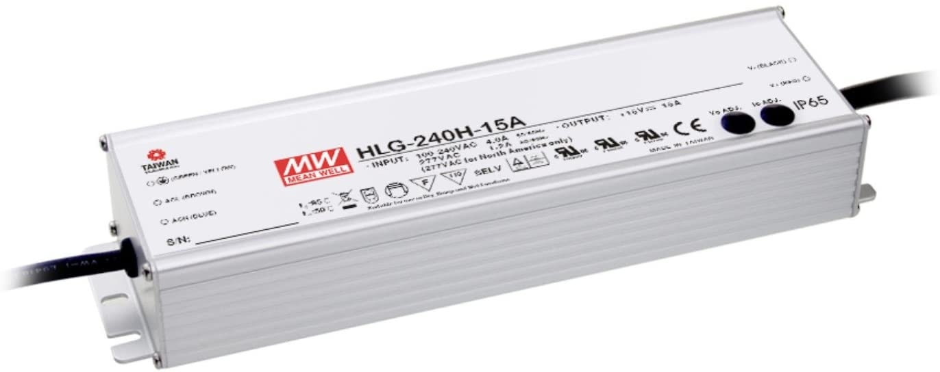 LED HLG-240H-24A 240W 24V10A meanwell waterproof power supply current adjustable type( 2-Pack DHL+ FREE GIFT)