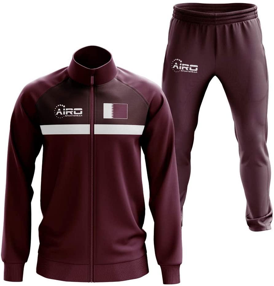 Airosportswear Qatar Concept Football Tracksuit (Maroon)
