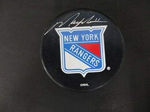 Signed Mark Messier Puck - Official NY - Steiner Sports Certified - Autographed NHL Pucks