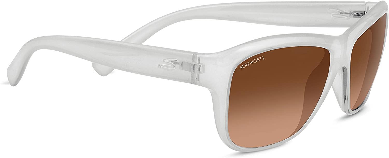 Serengeti Lerici Polarized Driver Sunglasses, Satin Dark Tortoise/Satin Dark Gunmetal