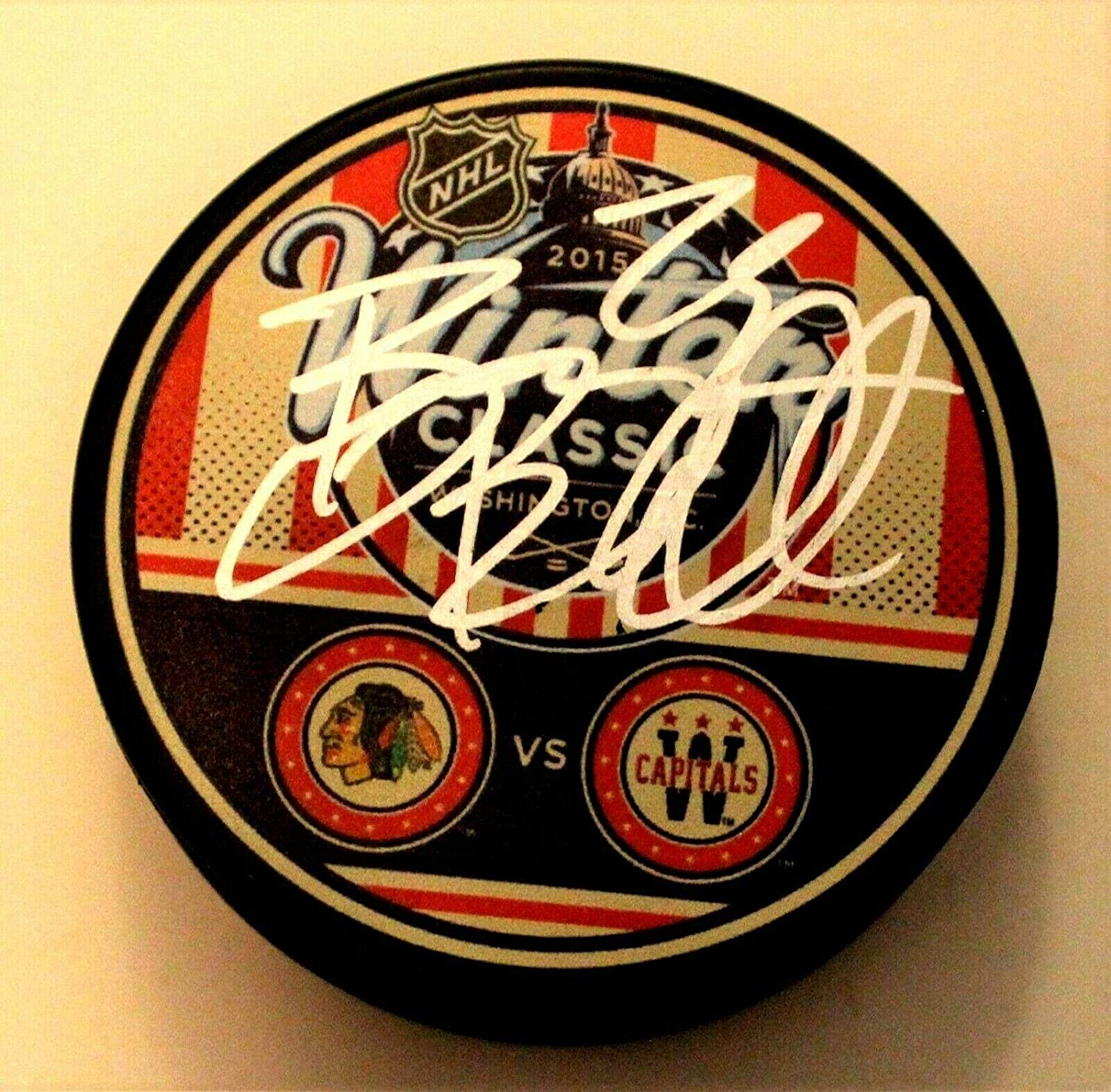 Bryan Bickell Autographed Puck - 2015 Winter Classic w COA - Autographed NHL Pucks