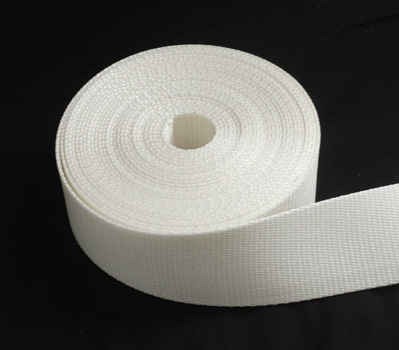 2 inch White Heavy Nylon Webbing 1 yard ( 2
