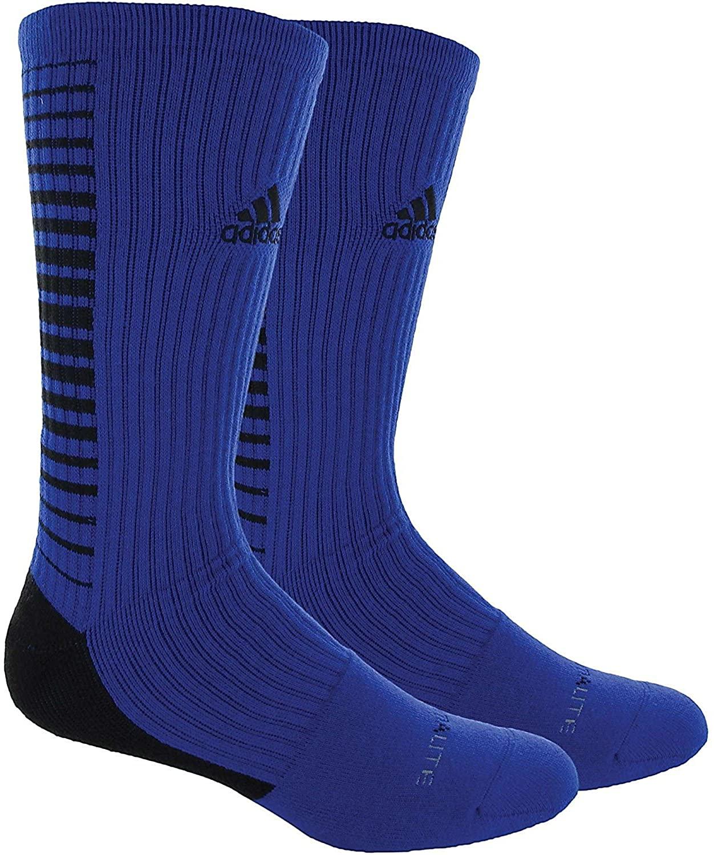 Adidas Medium Team Speed Vertical Crew Socks , Royal Blue|Black, Size 5