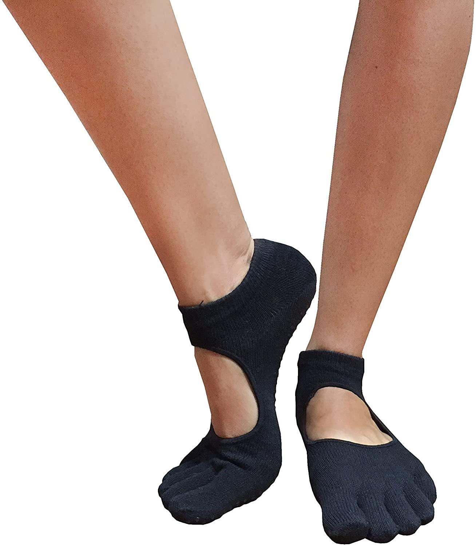 #ADDICTEDPRO Full Toe Yoga, Pilates, Barre Grip, Non Slip/Skid Sock
