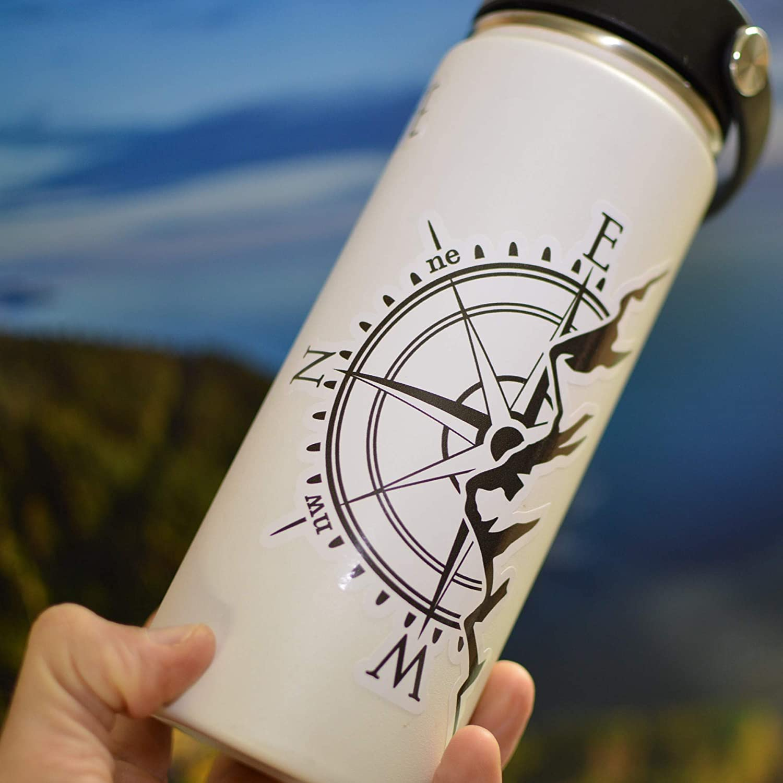 Mountain Compass Water Bottle Vinyl Decal Sticker