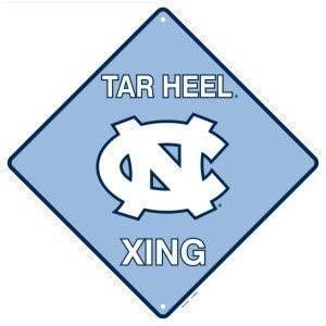 Tag City North Carolina Tar Heel Crossing Sign Metal Embossed 12 x 12