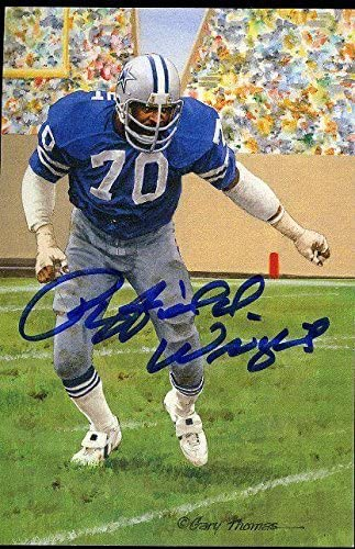 Rayfield Wright Signed Glac Goal Line Card Certed Autograph - JSA Certified - Autographed NFL Art