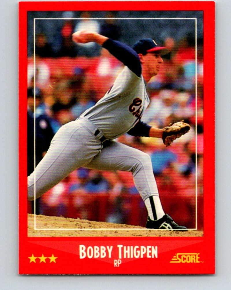 1988 Score #307 Bobby Thigpen Mint Baseball MLB White Sox