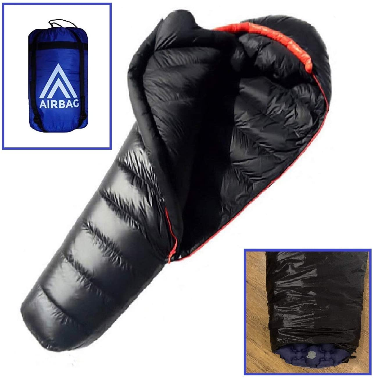 AirBag 3.0 Inflatable Sleeping Bag Camping - Ultralight & Compact for Adults & Kids - Sleeping Bag with Integrated Air Mattress and Compression Sack…
