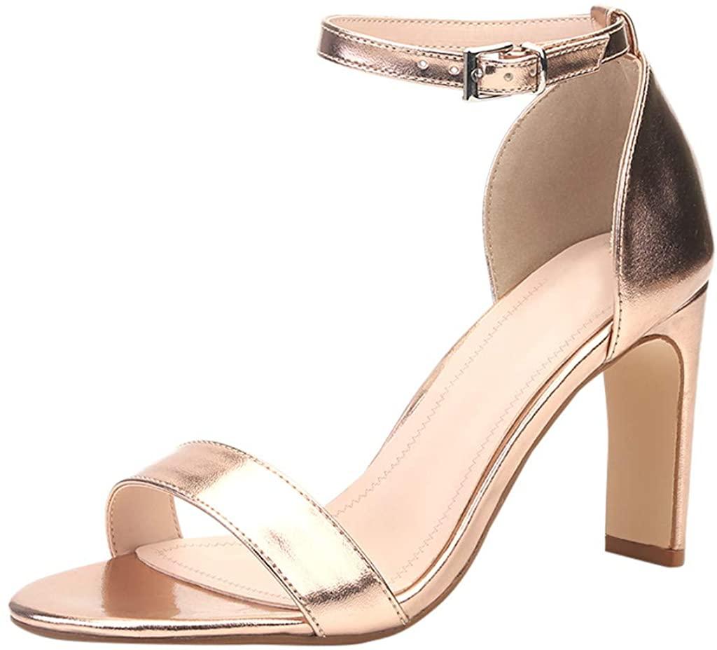 Women's Summer Sandals, Women's Sandals high Heel Pumps with Block Heel, Woman Sandals with high Stiletto Heel