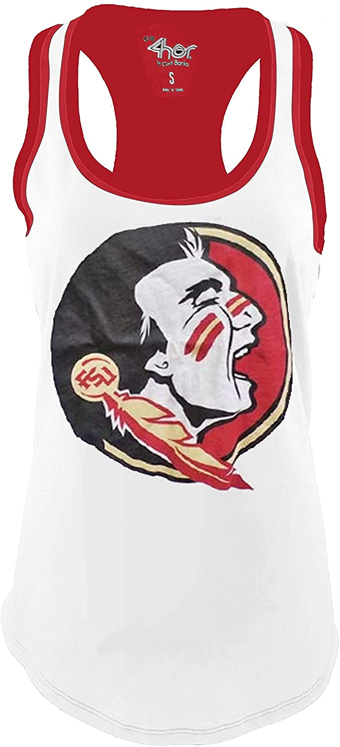 G-III Sports Florida State University Womens Power Alley Tank Top T-Shirt