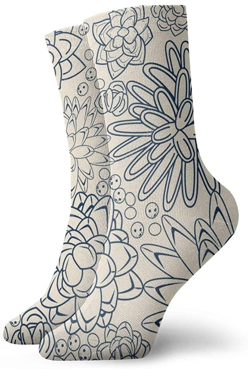 Game Life Crew Socks Succulent Garden Men Women Sock Casual Socks