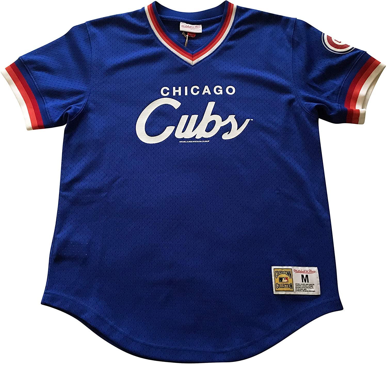 Mitchell & Ness Chicago Cubs MLB Men's Pullovers Jerseys Short Sleeve V Neck Pullover Jersey