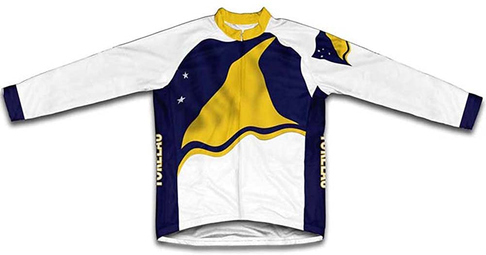ScudoPro Tokelau Flag Winter Thermal Cycling Jersey for Men