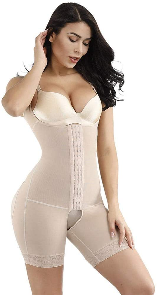 MDYHJDHYQ Waist Trimmers Slimming Body Shaper Waist Trainer Modeling Belt Thigh Reducer Tummy Control Butt Lifter Push Up Shapewear (Color : Beige, Size : XL)