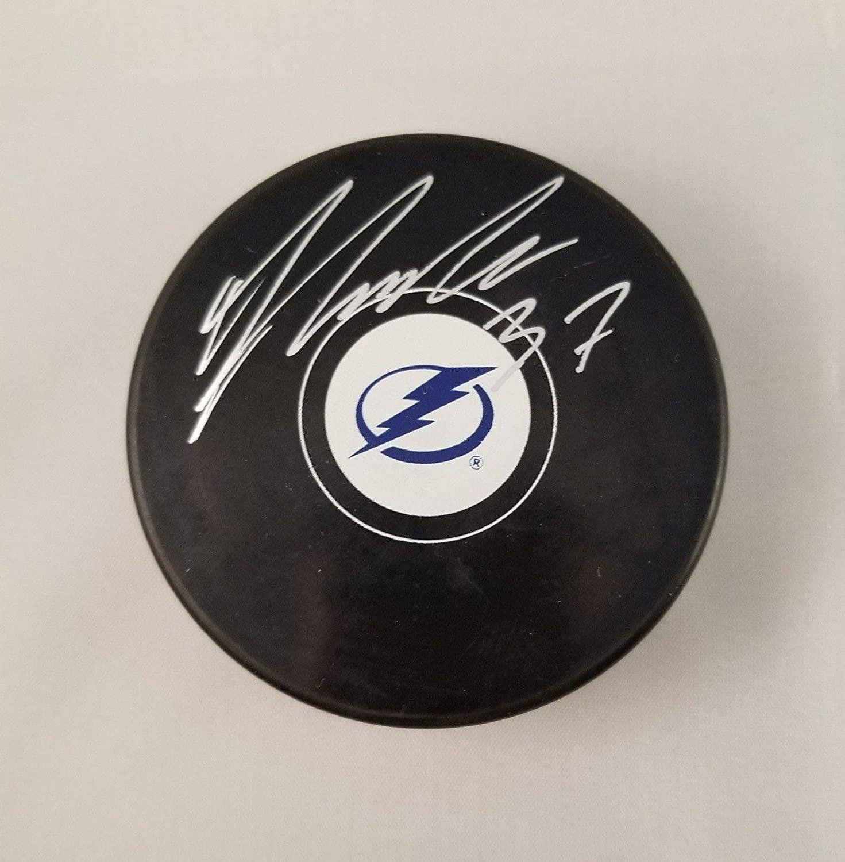 Yanni Gourde Autographed Signed Hockey Puck Tampa Bay Lightning - JSA Certified - Autographed NHL Pucks