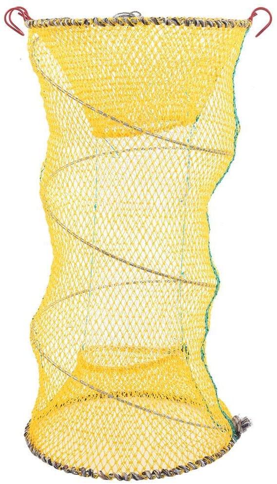 VGEBY1 Shrimp Bait Trap, Foldabe Fishing Cage Trap Bait Lobster Crawfish Collapsible Folding Fishing Net Bait Shrimp Cage