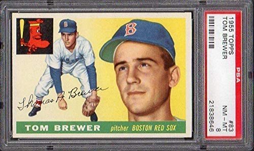 1955 Topps 83 Tom Brewer Psa 8 21838646 - Baseball Slabbed Vintage Cards