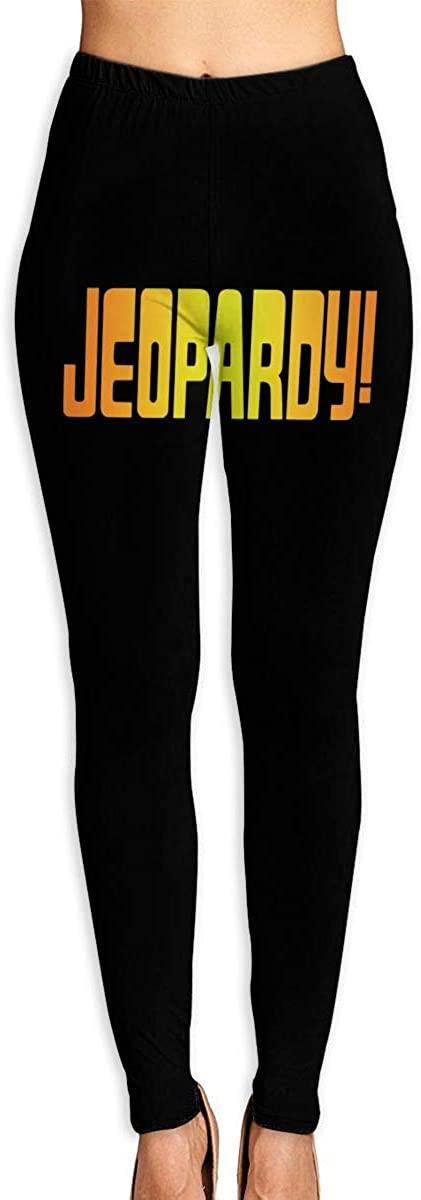 Women's Yoga Pants Jeopardy! High Waist Workout Leggings Running Pants