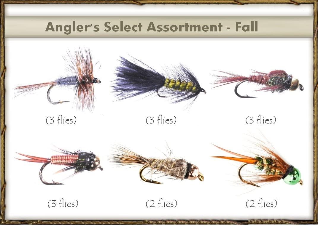 Fly Fishing Flies - Angler's Select Assortment - Fall (16 Flies)