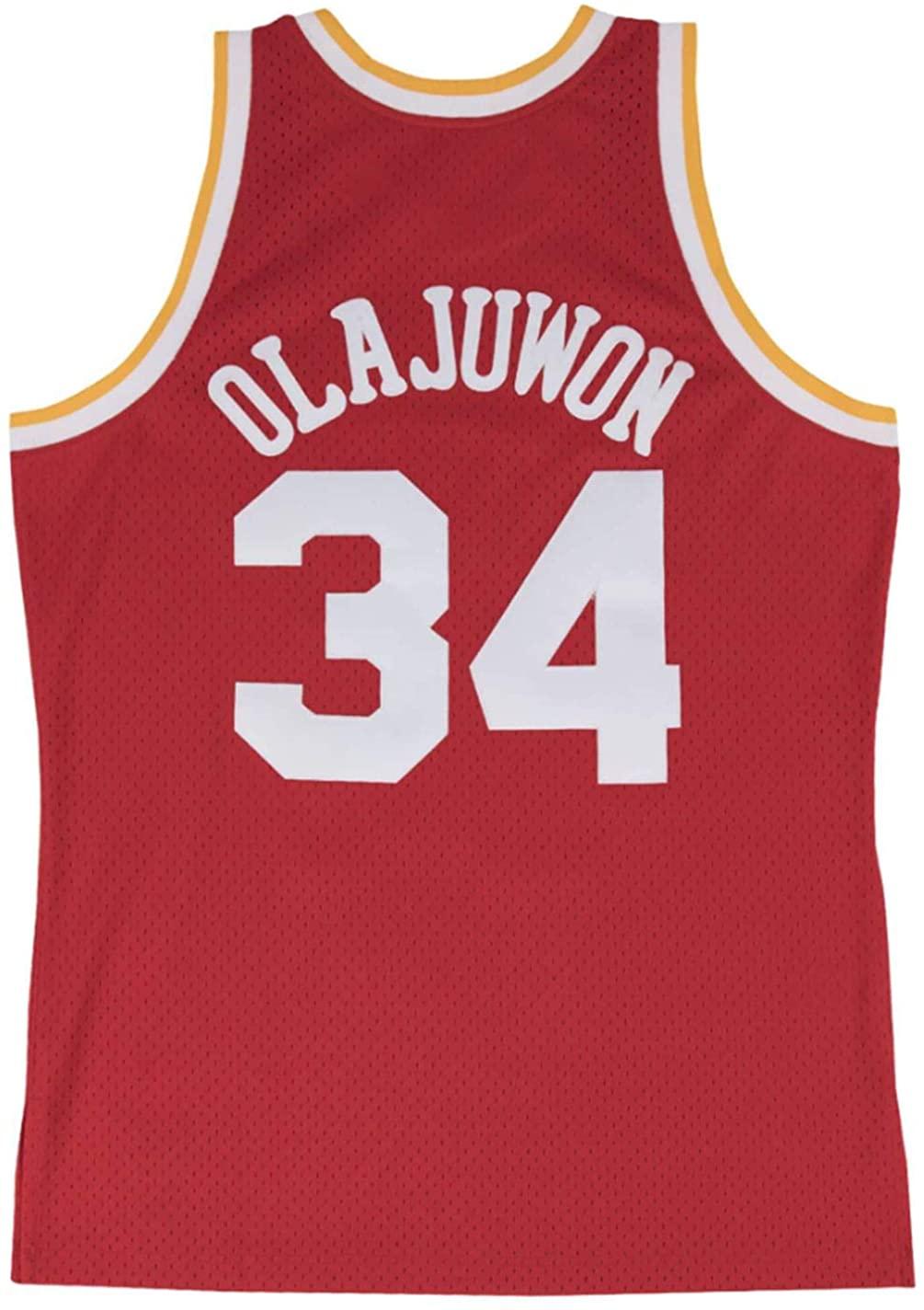 Mitchell & Ness Hakeem Olajuwon Houston Rockets Men's Red Swingman Player Jersey