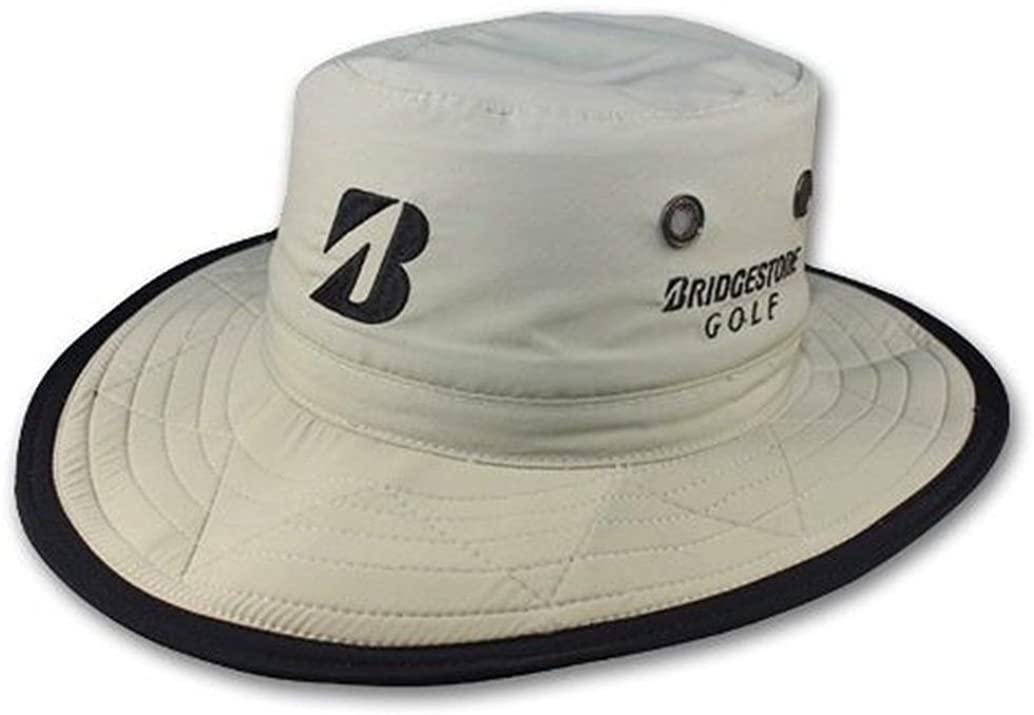 Bridgestone New Wide Brim Safari Boonie Stone Fitted L/XL Hat/Cap
