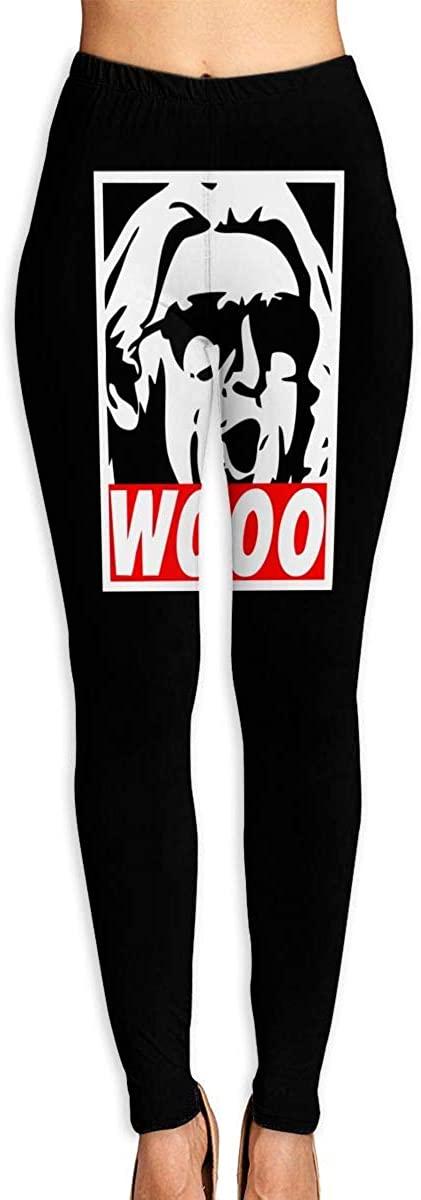 Women's Yoga Pants Wooo - Wrestling Nature Boy High Waist Workout Leggings Running Pants