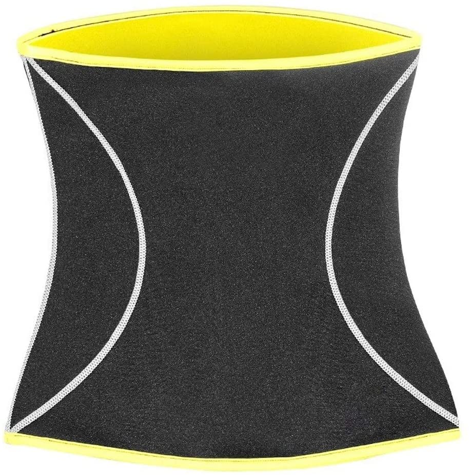 UKLLYY Waist Trainer Slim Waist Trainer Body Shaper for Mens Neroprene Waist Cincher Shapewear Weight Loss Strap Slimming Modeling Belt Corset (Color : Sport Black, Size : L)