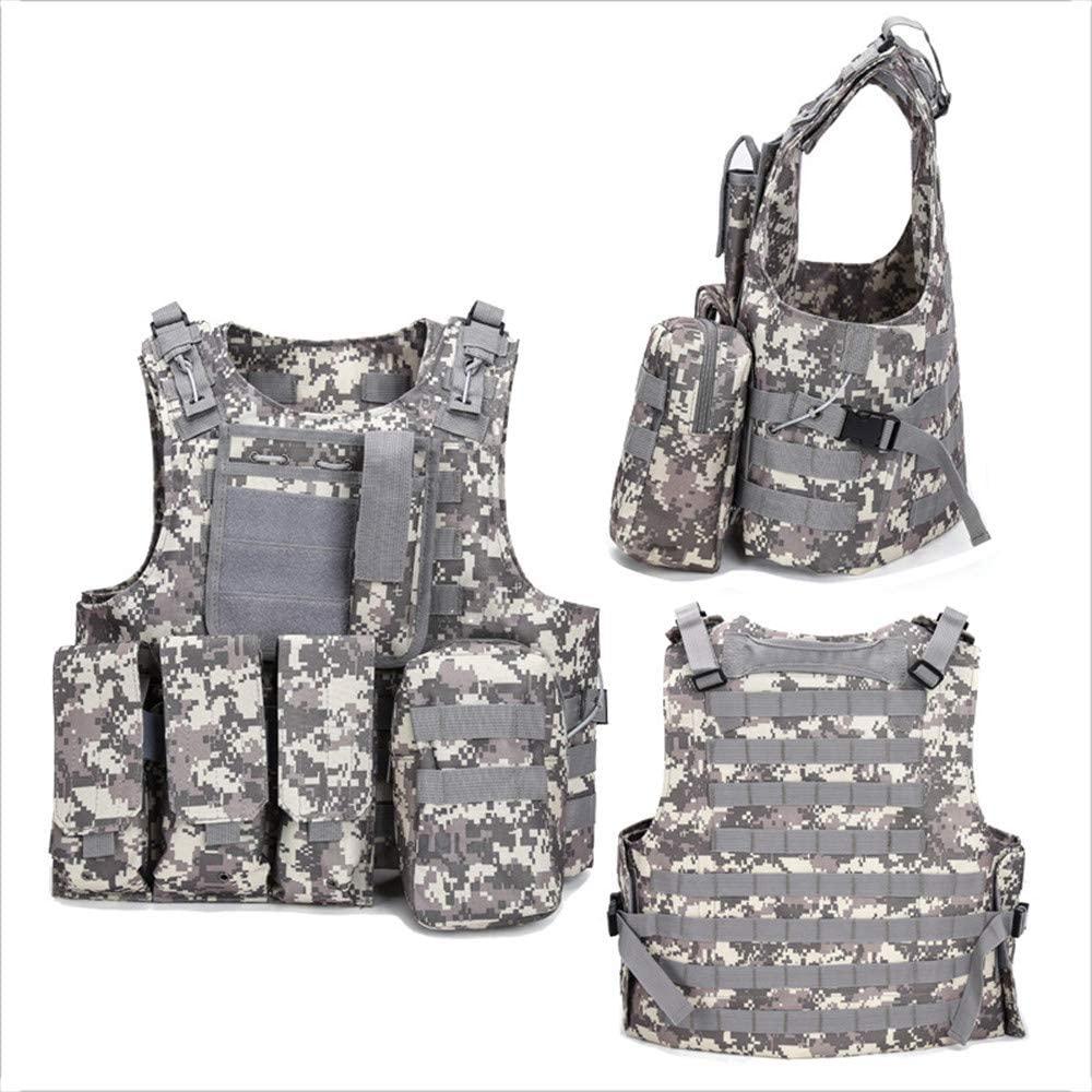 NOBUNO Tactical Vest, Outdoor Multi-Functional Amphibious Tactical Vest Combat Uniform Military Fan Sports Vest Assault Field Survival Equipment,4