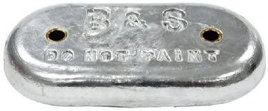 B & S Anodes BSMB12; Oval Zinc W/2 Holes 9 inch X 4 In