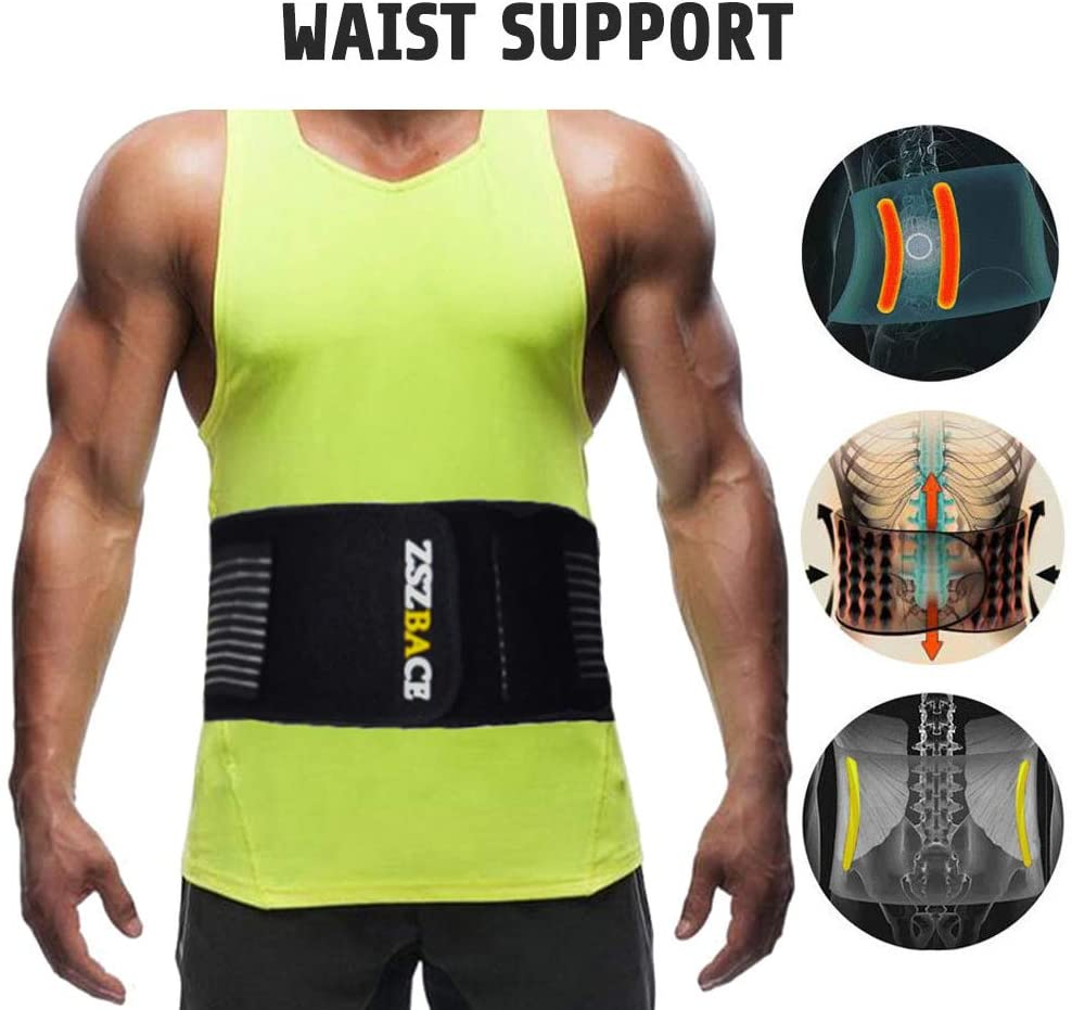 brandless Waist Trimmer Belt, Waist Trainer, Promotes Sweat & Weight Loss in Mid-Section