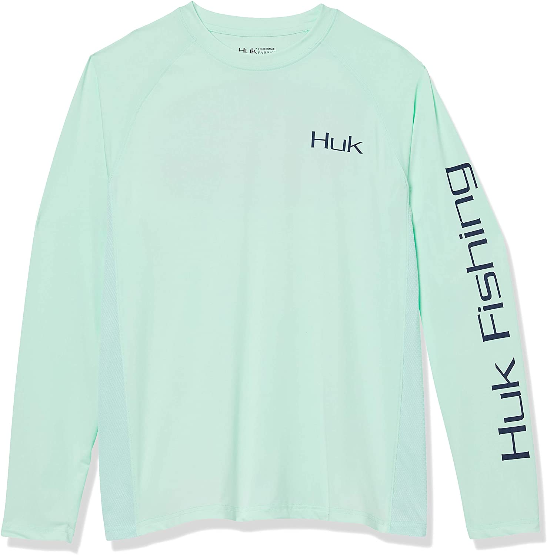 HUK Mens Pursuit Golden Dorado | Long Sleeve Performance Fishing Shirt with +30 UPF Sun Protection