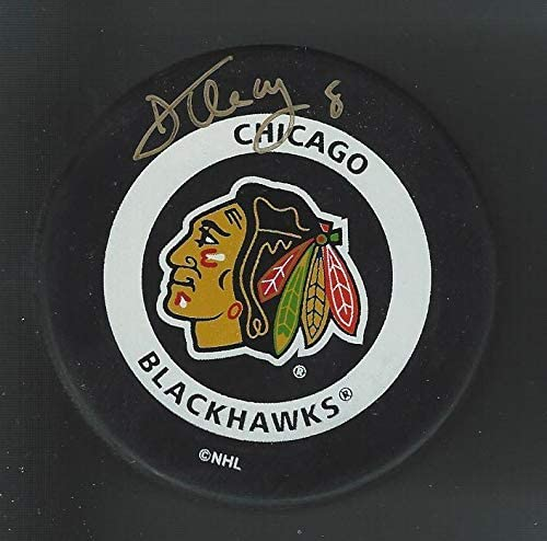 Dan Cleary Signed Chicago Blackhawks Official Game Puck - Autographed NHL Pucks