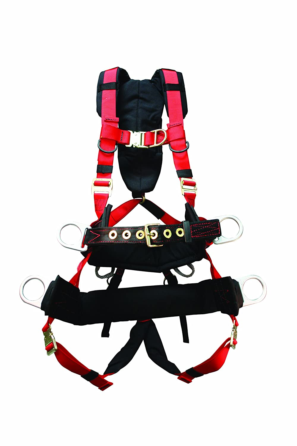Elk River 68613 Pinnacle Polyester/Nylon Tower AL 6 D-Ring Harness with Quick-Connect Chest, Large