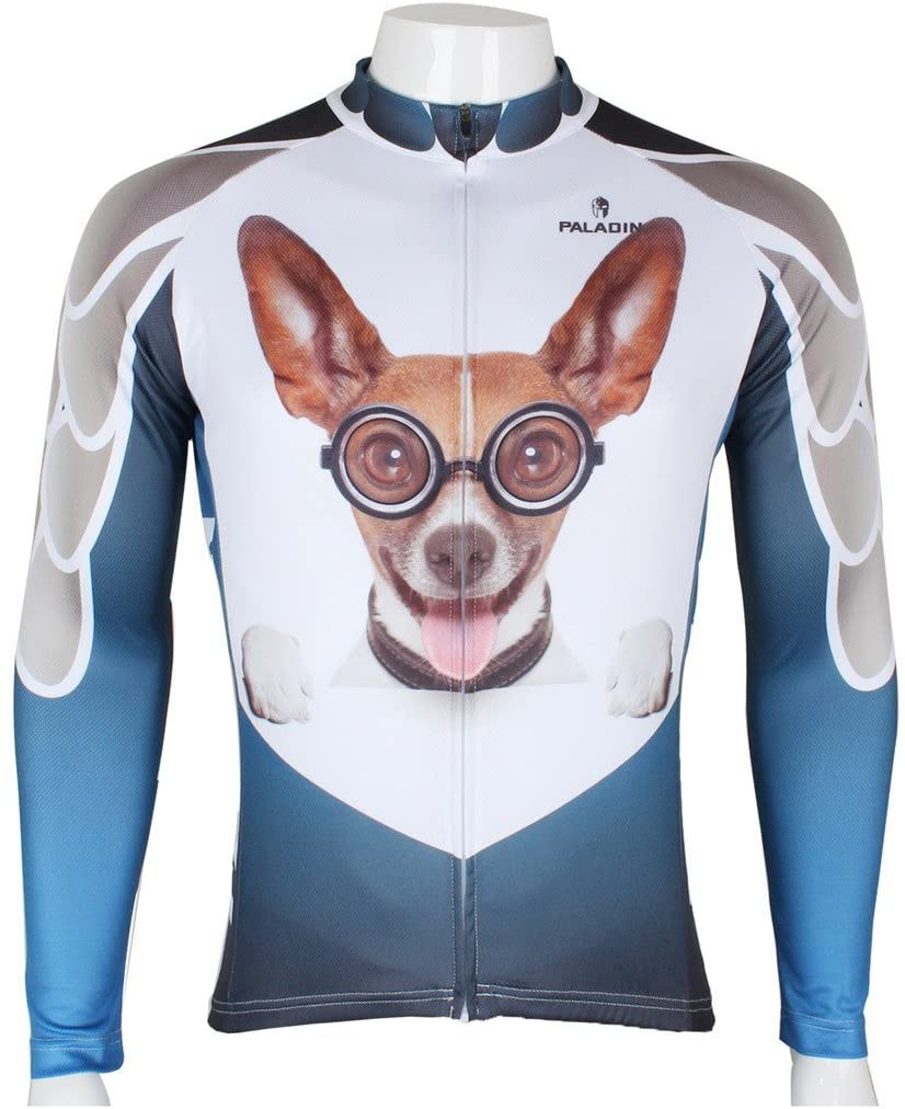 PaladinSport Men's 3D Dog Bike Jersey and Cycling Clothing Set Asian Size S-6XL