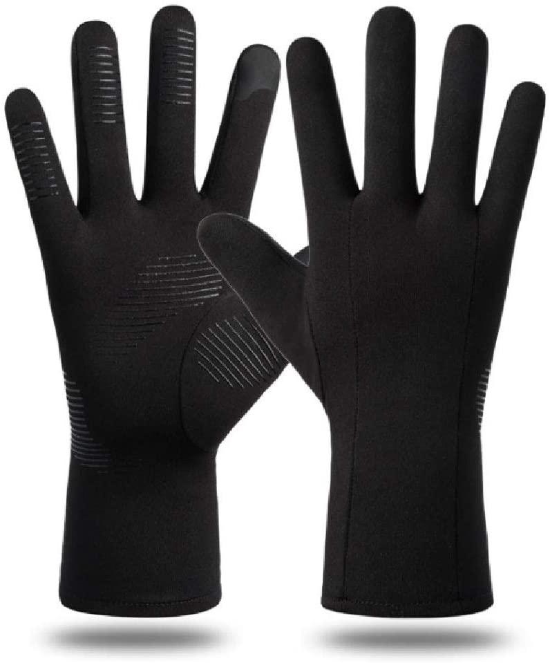 Liaiqing Winter Gloves Outdoor Sports Gloves Men and Women Touch Screen Gloves Full Finger Gloves Windproof Non-Slip Gloves Plus Velvet Warm Gloves Mountaineering Riding Gloves