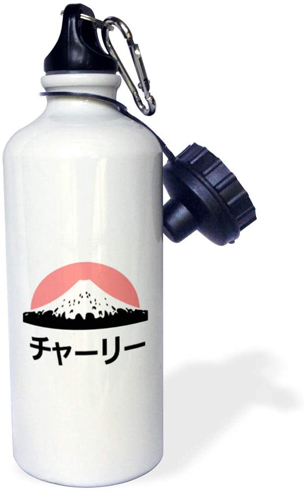 3dRose InspirationzStore - Name in Japanese - Charlie in Japanese Letters - 21 oz Sports Water Bottle (wb_320453_1)
