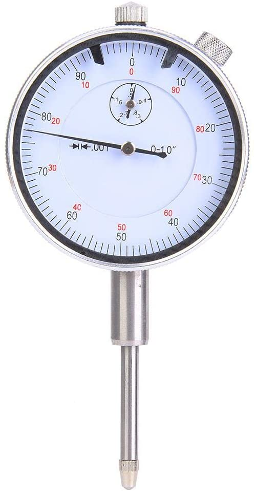 Taidda 1in Dial Indicator, Adjustable Stainless Steel Dial Indicator, Measure runout