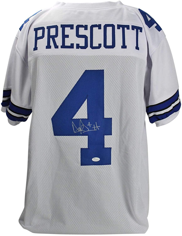 Dak Prescott Signed Jersey - White Witness - JSA Certified - Autographed NFL Jerseys