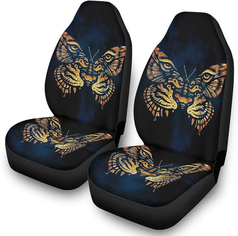 IOVEQG Butterfly Tiger Seat Cover Bucket Covers Scratch-Proof for Most Cars