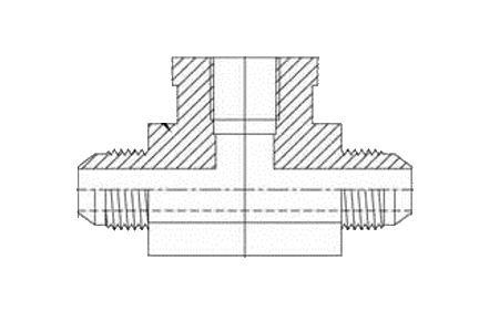 Brennan Industries 2602-10-10-08-FG Forged Steel Tee Fitting, 7/8
