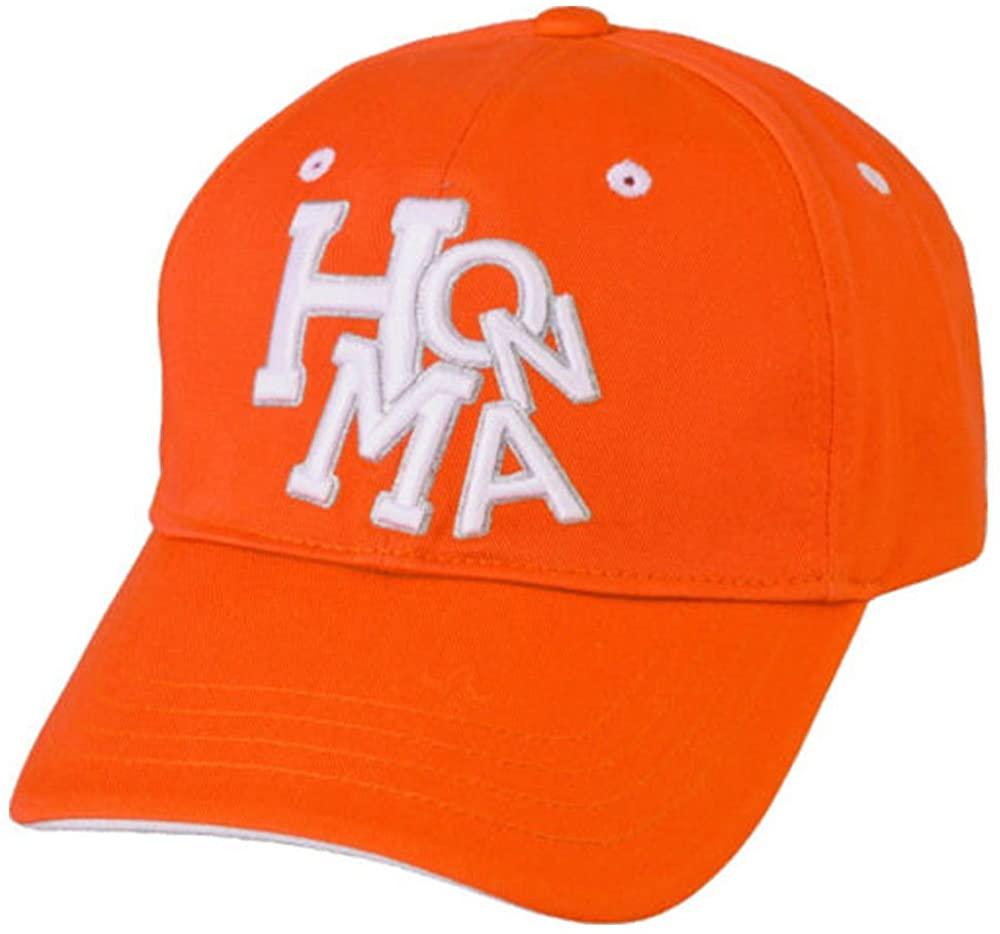 Honma New 699-317670 Dancing Orange/White Adjustable Golf Hat/Cap